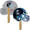 Helmet Shaped Hand Fans, Budget Fans, Low Minimum,
