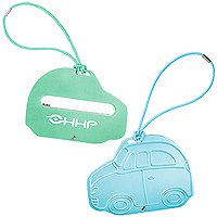 Metal Luggage Tags, Aluminum, Car Shaped