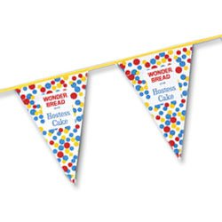 Poly String Pennants, 60 ft. Economy 4 Mil  - High Quantity