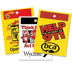 Die Cut Plastic Litter Bags, Safety & Prevention Theme, No Gusset