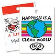 Die Cut Plastic Litter Bags, Environmental Theme, No Gusset