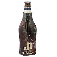 Licensed Camo Zippered Bottle Coolies