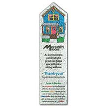 Printed Seeded Paper Bookmarks, House Shape