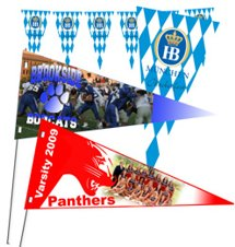 "16"" x 7"" Full Color Cardstock Pennants"