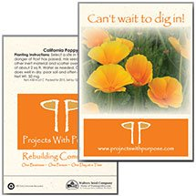 California Poppy Seed Packets