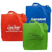 "14.75"" x 11.75"" Non-Woven Reusable Convention Totes"