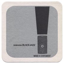 "4"" Square 40 pt. White Drink Coaster"