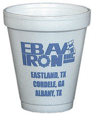 10000 Custom 8 oz. Foam Cup (Offset Printed)