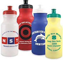 20 oz. Recyclable Colored Sport Water Bottle