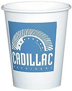 100 Custom 8 oz. White Paper Cups (Screen Printed)
