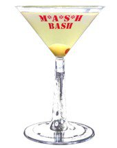 6 oz. 2-Piece Clear Plastic Martini Glass (Screen Printed)