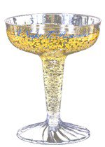 4 oz. 2-Piece Clear Plastic Champagne Glass (Screen Printed)