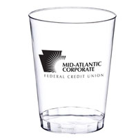 10 oz. Clear Plastic Cup (Screen Printed)