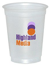 5 oz. Soft Sided Frosted Cup (Offset Printed)