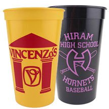 50 Custom 22 oz. Smooth Stadium Cups (Screen Printed)