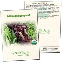 Organic Lettuce 'Gourmet Blend' Seed Packets