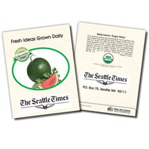 Organic Watermelon 'Sugar Baby' Seed Packets