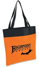 Orange and Black Shoppe Tote