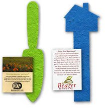 Plantable Seeded Shape Bookmarks with Insert Card