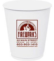 12 oz. Double Wall Insulated Paper Cups (Screen Printed)