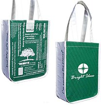 Recycled PET Shopping Bag, Eco Message, Small 9.25 x 12