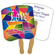 Church Hand Fans - Assorted Stock Designs