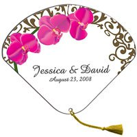 Seashell Stickless Wedding Hand Fans