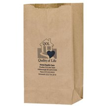 "6"" x 14"" Natural Kraft Grocery Bags, 4"" Gusset"