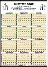Time Management Span-A-Year Calendars, Laminated with Marker