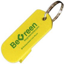 Biodegradable Corn Plastic Can Opener Key Tag
