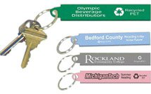 Recycled PET Keytag with Metal Ring