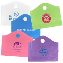 "18"" x 15"" x 6"" Recycled Frosted Super Wave Die Cut Handle Bags"
