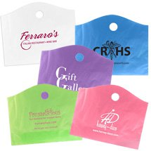 "22"" x 18"" x 8"" Recycled Frosted Super Wave Die Cut Handle Bags"