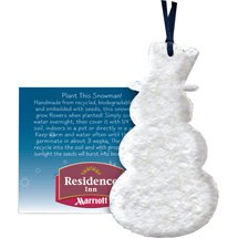 Plantable Snowman Ornament with Insert Card