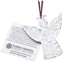 Plantable Angel Ornament with Insert Card