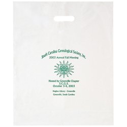 "16"" x 18"" x 4"" Die Cut Plastic Bags with Patch Handle"