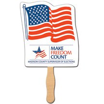 Flag Stock Shaped Hand Fans