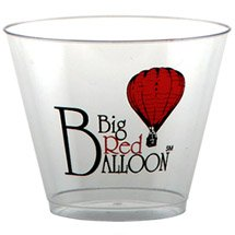 100 Custom 9 oz. Old Fashioned Crystal Clear Plastic Cups