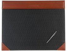Leather Desk Blotter - Two Tone Executive Suite