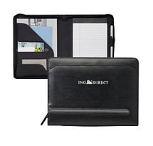 Distinctions Jr. Zippered Premier Leather Padfolio