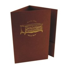 Foil Stamped Tri-Panel Folders, One Pocket
