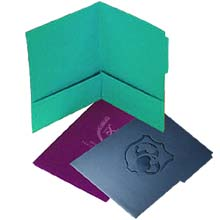"Tab Presentation File Folders, Embossed Two Pockets, 9"" x 11-3/4"""