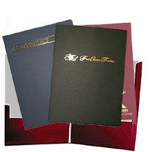 "Foil Stamped Presentation Folders, 9"" x 12"" with Rush Delivery Service"
