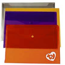 "Plastic Envelopes with Snap Closure, 13"" x 9-1/4"""