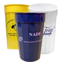 50 Custom Stadium Cups, Fluted 22 oz.