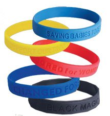 Promotional Silicone Awareness Bracelets - Debossed