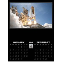 Space Calendars, America in Space - 6 Sheet