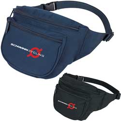 Deluxe Polyester Fanny Packs, Adjustable Strap