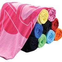 "Velour Terry Colored Beach Towels, 30"" x 60"""