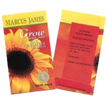 High Quantity Business Card Size Seed Packet - Full Color Imprint